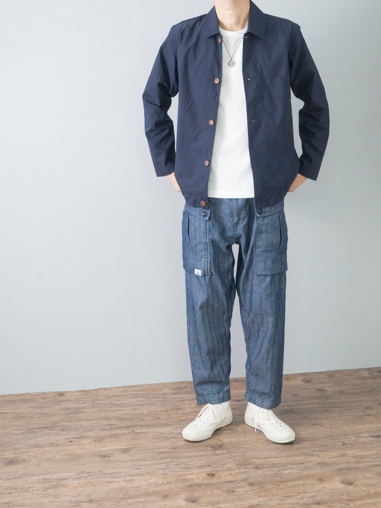 Herringbone pattern wash water quality thin section 9 points jeans P44 military pants Monkey Pants