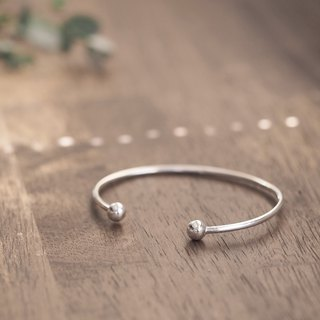 Ball Bangle Men's Silver 925