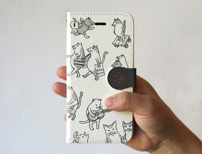 iPhone cover · notebook type Cat full of white