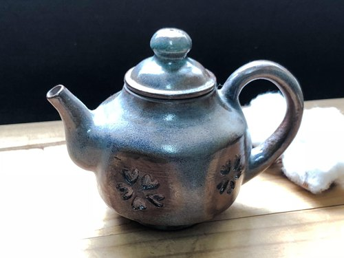 Coffee Blue - Printed Teapot