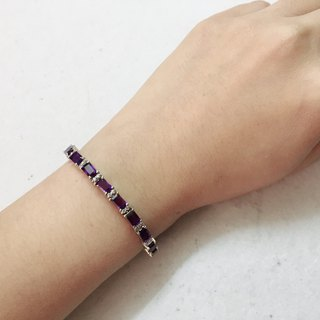 Amethyst Zircon Bracelet Made in India 92.5% Silver