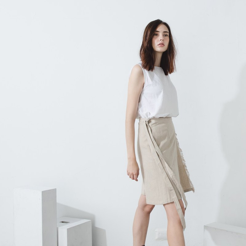 Tendril Rope Skirt - Apricot