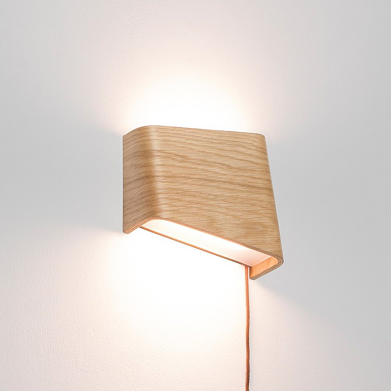 SLICEs LED wooden touch wall light ∣ dual light source switch ∣ right side light source