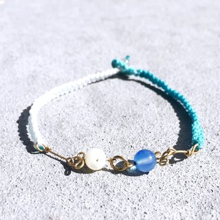 Summer Limited Handmade Gemstone waterproof bracelet- Golden Coast