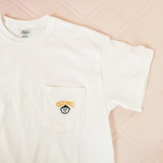 Omusumo Embroidery Pocket T-shirt White M