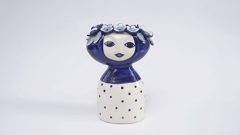 Lady Blue l ceramics l May&Clay Ceramics Studio