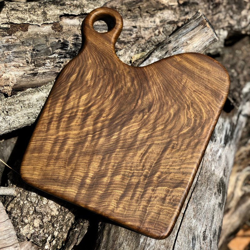 Natural natural shaped log plate / chopping board / plate / Paraguay rosewood / flash water ripple