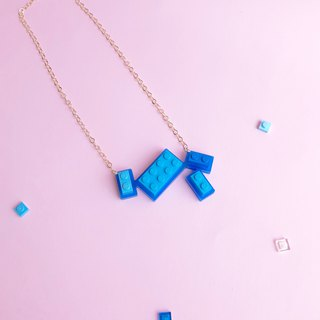 Summer Ocean Blue  Lego necklace