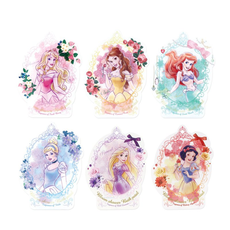 Disney Princess bathing petals (Snow White / Little Mermaid / Cinderella / Belle / Sleeping Beauty)