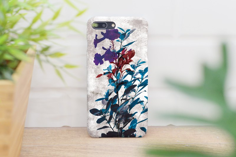 55-2 purple flowers iphone case for iphone 6,7,8, plus iphone xs, iphone xs max