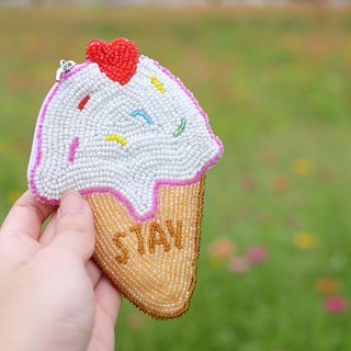 Ice-cream CoinsBag (Whole Hand Bead Embroidery)