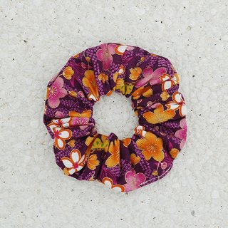 Colorful flower development bundle _ purple / large intestine ring donut hair ring