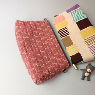 Cosmetic bag / bag / bag / first dyed / Japanese cotton