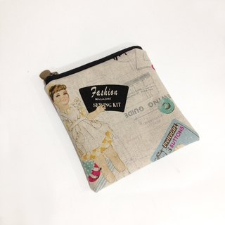 Boxy little girl sewing bags