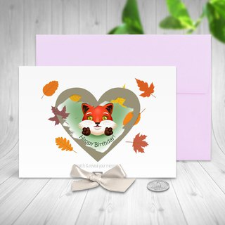 Fox Birthday Card | Scratch Off Card | Scratch Off | Birthday Card | Fox Card