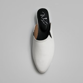 WL Mules Muller (Pure White) White
