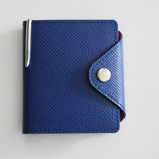 Culioro LEATHER MEMO COVER and PEN S Navy