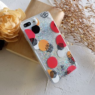 PATTERN LAB | Liquid Glitter Case for iPhone 8/7/6s Plus - Dots