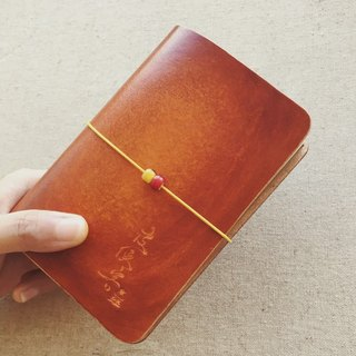 Passport section TN travel notebook Italy vegetable tanned leather handmade red brown dyeing handmade leather custom