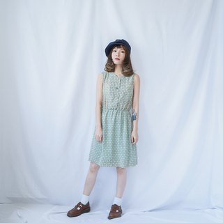 VINTAGE MINT SLEEVELESS DAY DRESS
