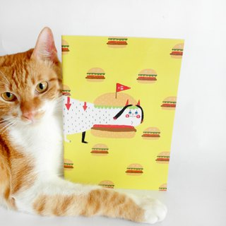 Hamburger cat / notebook