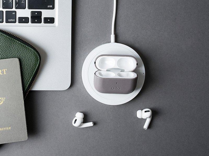 Alto AirPods Pro 皮革耳機保護套 – 礫石灰