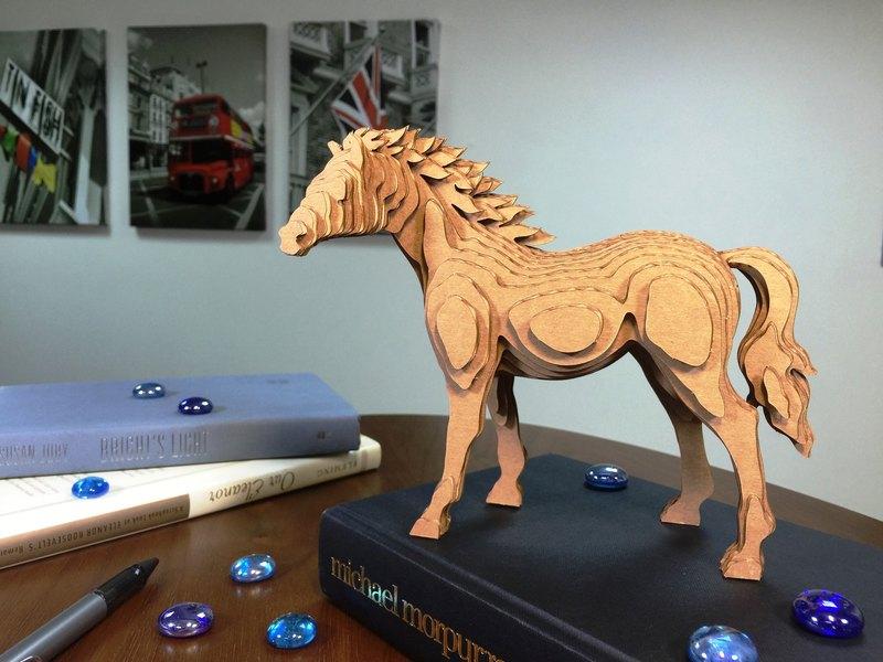 Contamo手作模型DIY材料包  野生動物系列-馬-大