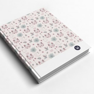 Rococo Strawberry WELKIN Handmade _ Handmade Book/ Notebook/ Pocket Journal/ Diary - Pink Tiger