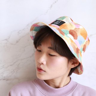 Colorful cute little hair ball fisherman hat