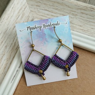 Misssheep-A53-National Wind South American Braided Brass Bead Earrings (Audio Ear Clips)