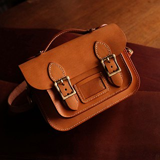 Vintage Shoulder Cambridge Bag。Leather Stitching Pack。BSP069