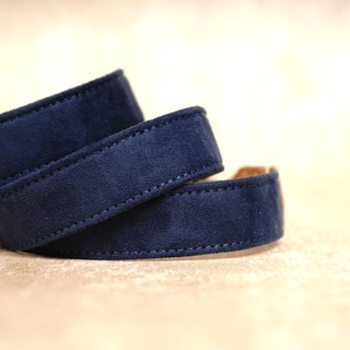 Blue suede leather pressure relief camera straps 2.5