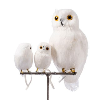 White Owl S108/L111 Handmade animal shape decoration white owl small 108/large 111