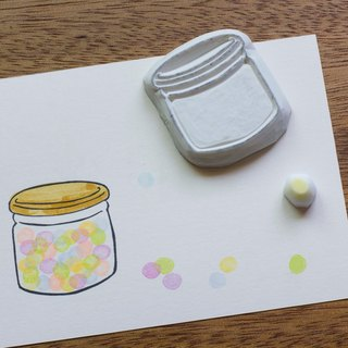 Candy jar hand engraved rubber seal group stationery hand seal