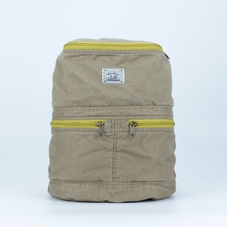 RuckSack Locke Bag - Brown mustard
