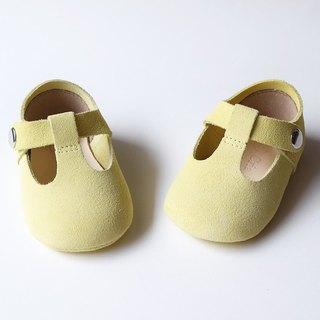 Pastel Yellow Baby Girl Shoes, Baby Moccasins, Baby Booties, Infant Crib Shoes