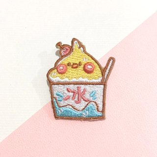 Dog clip star / original embroidery pin / shaved ice Xuan Feng bird