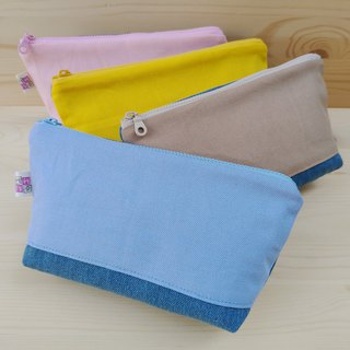 Colorful canvas denim large storage bag / a total of 12 colors