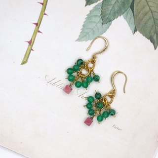 [Riitta] Christmas tree Christmas party earrings (ear clip)