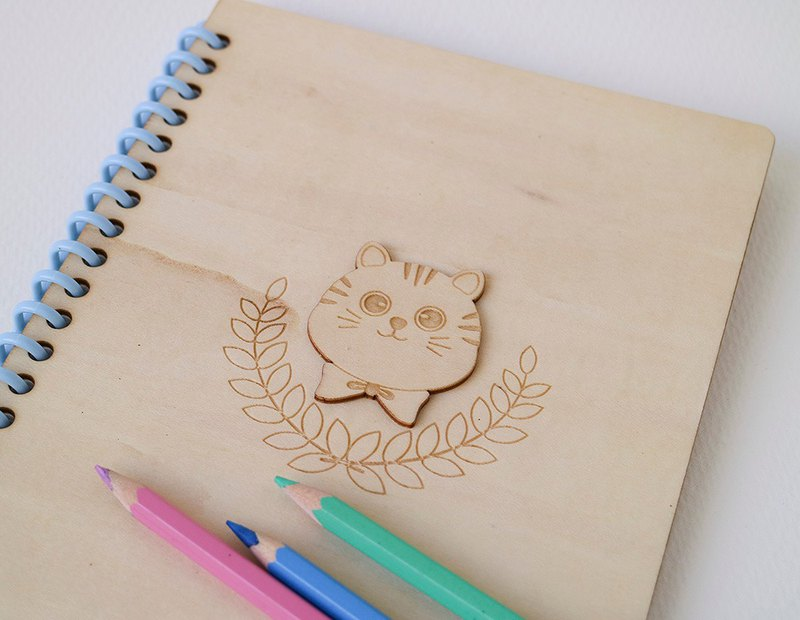 Bow tie cat A5 notebook