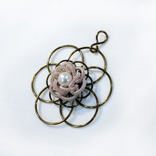 Woman flower necklace 墬 (without chain)