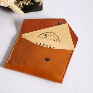 [Cottage a field] European imports of leather handmade business card holder