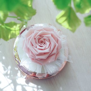 Romantic Pink Fabric Rose Mirror custom