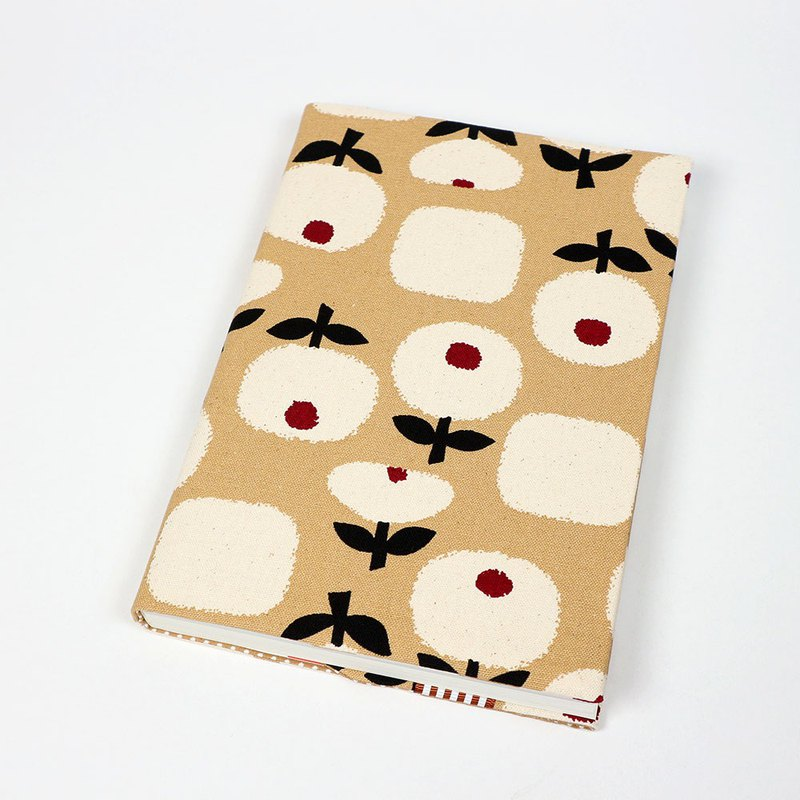 A5 Cloth book cover mother book cloth book cover bookcloth - tulip (brown)