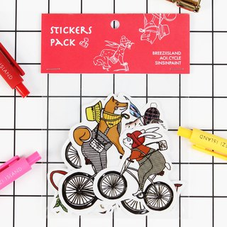 Animal Cycling Parade - A Tangerine Series Stickers
