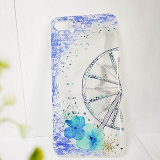 Pressed Flower Ferris Wheels Matching Phone Case | Blue