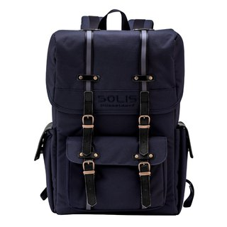 "SOLIS Hiker Series 13"" Square Laptop backpack & camera backpack(NAVY)"