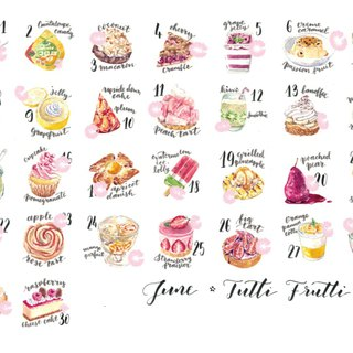 Sticker Set - Fruity Desserts (30 pieces)