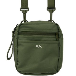 CRV3013-Water Repellent 2WAY Square Glasses Bag - Army Green