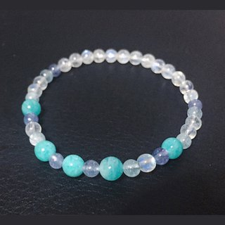 (Ofelia.) Natural Milky Way x Moonstone x Tanzanite Bracelet (J111.Elaine) Crystal